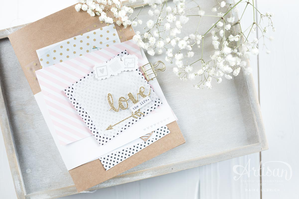Ein verspieltes Minialbum Love the Life mit Stampin' Up!