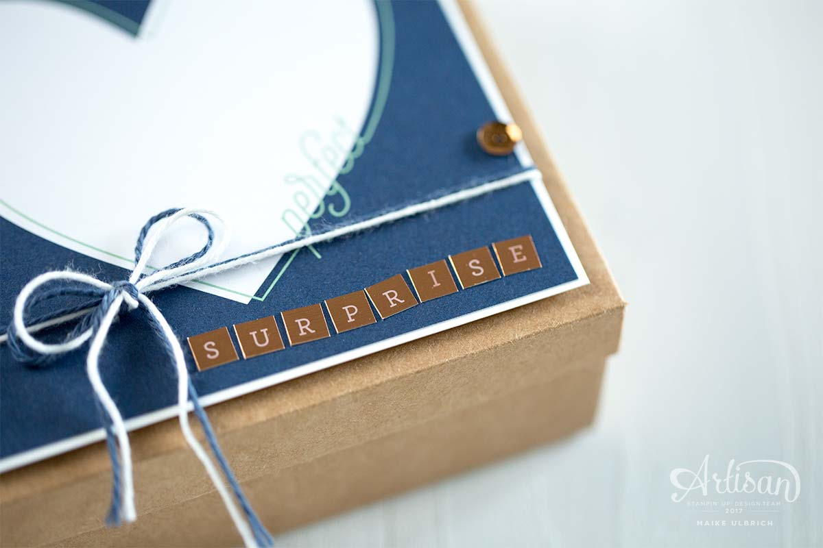 Perfect Surprise - Karte in einer Box mit Stampin' Up!