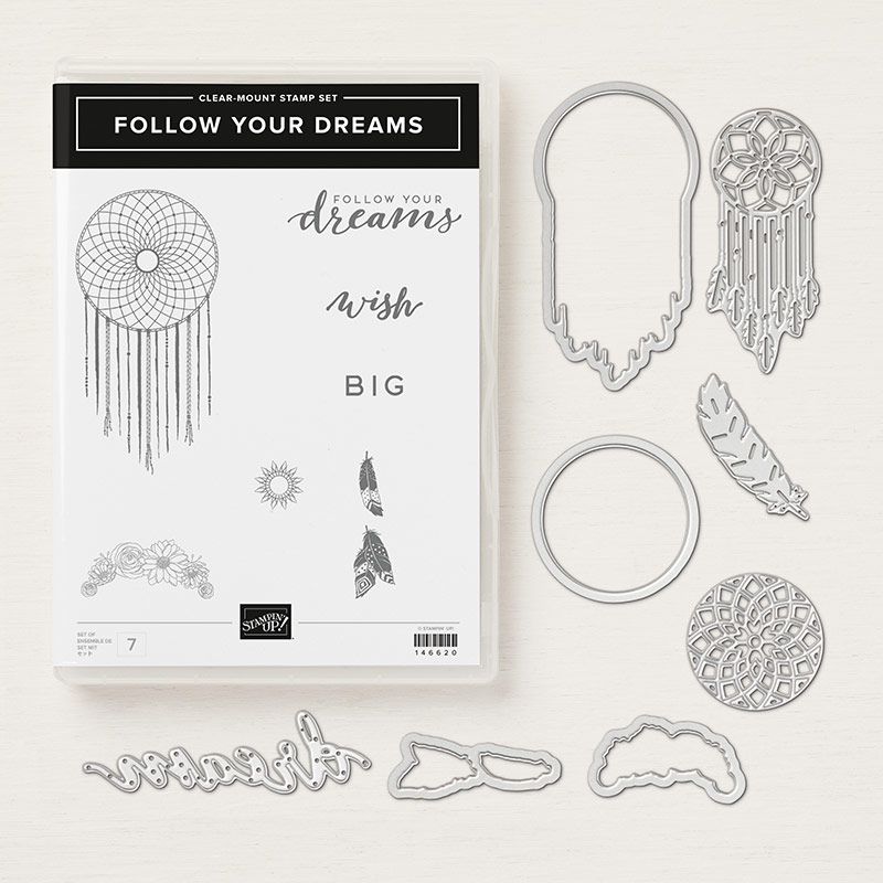 Stampin' Up! Produktpaket Follow your Dreams mit Stempelset & Framelits Traumfänger