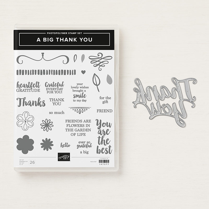 Stampin' Up! Produktpaket A big thank you mit Stempelset & Thinlits Thank you