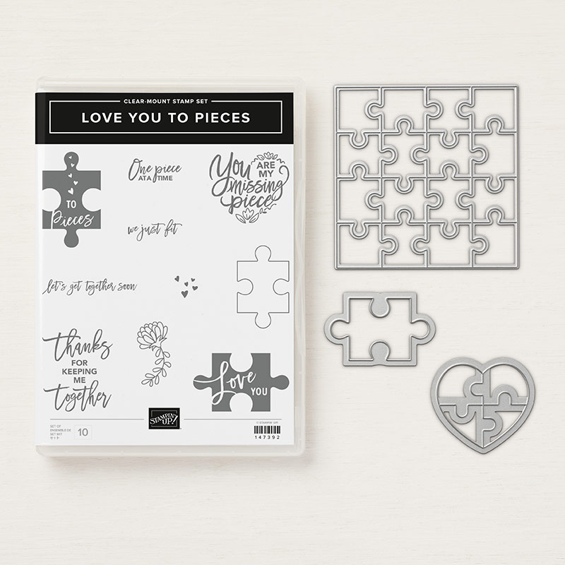 Stampin' Up! Produktpaket Love you to pieces mit Stempelset & Thinlits Puzzleteile