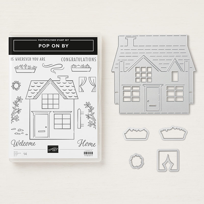 Stampin' Up! Produktpaket Pop on By mit Stempelset & Thinlits Pop-up-Haus