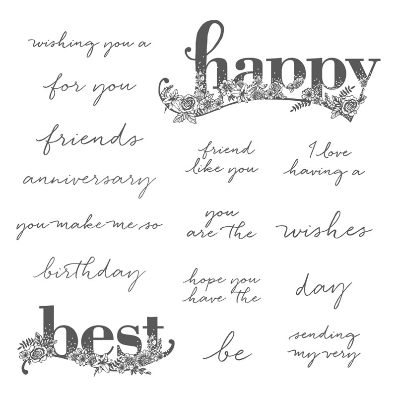 Stampin' Up! Stempelset Happy Wishes