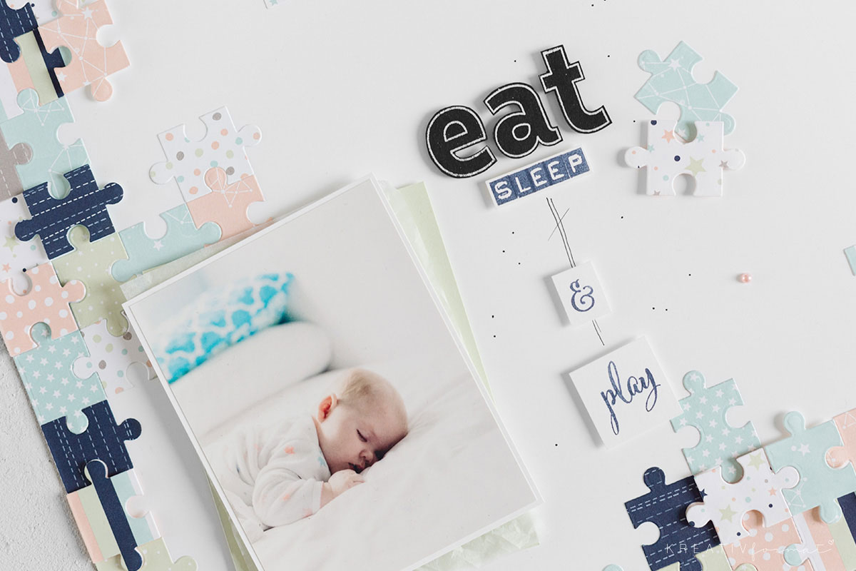 Eat, sleep & play - ein Layout für Kinderfotos
