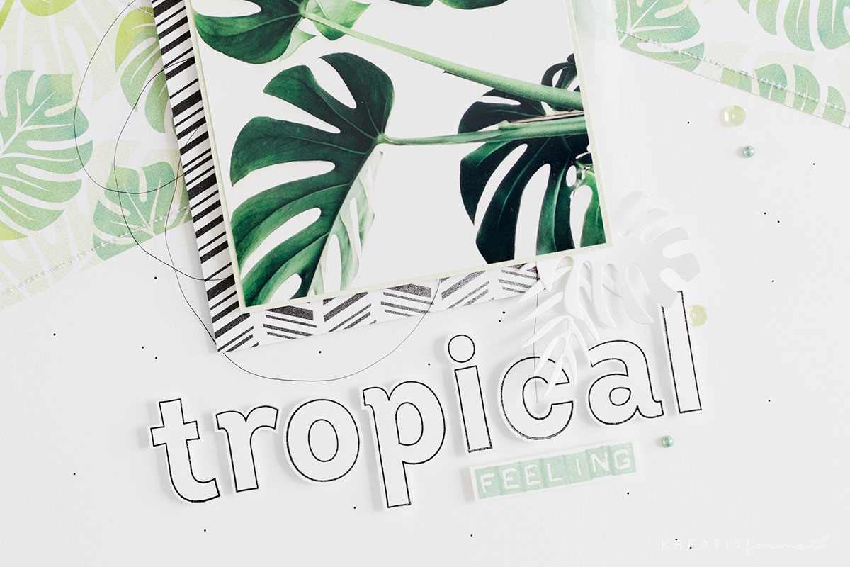 Tropical Feeling - Ein Layout zum Thema Greenery.