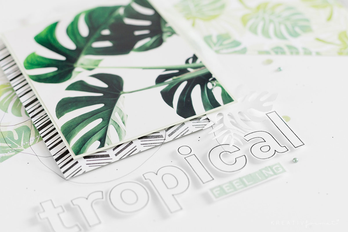 Das Layout Tropical Feeling - Monstera & Greenery